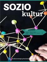 Auf dem Bild ist das Cover der aktuellen Ausgabe Zeitschrift SOZIOKultur (4-2019) zu sehen.