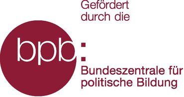 Logo der Bundeszentrale für Politische Bildung (bpb) mit dem Satz daneben: Gefördert durch die Bundeszentrale für Politische Bildung